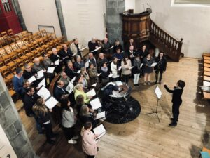 Probe Martinskirche, Damenchor Chursüd und Chor dils Larischs Leitung:Martina Hug